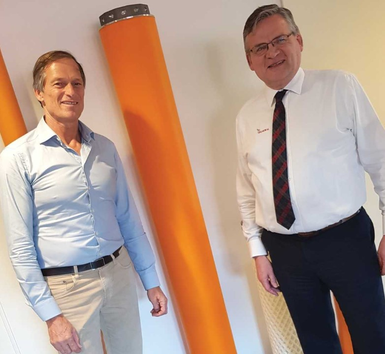 Seaproof's Henrik Bang-Andreasen with Bill Main of Balmoral Group. Source: Balmoral