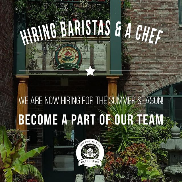 Hi Friends!  We are hiring for the summer season and looking for upbeat and talented batistas and a passionate chef.  If interested, please call us during business hours at 269-252-5370 Tuesday to Sunday 8am to 2pm or message us on Instagram or Facebook with your resume.  Have a great week everyone!