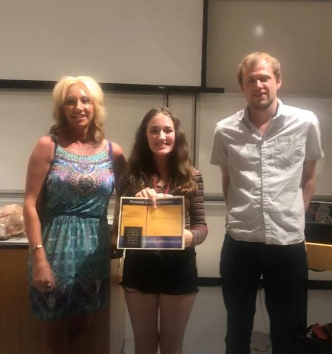 Left to Right:   Lori Ball (director), Bella Malherbe, Matthew Winchester (Seminar speaker, FSI alumnus 2011)