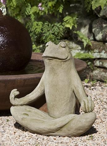 """Totally Zen Frog - 18.5"""" x 10"""" x 18"""""""