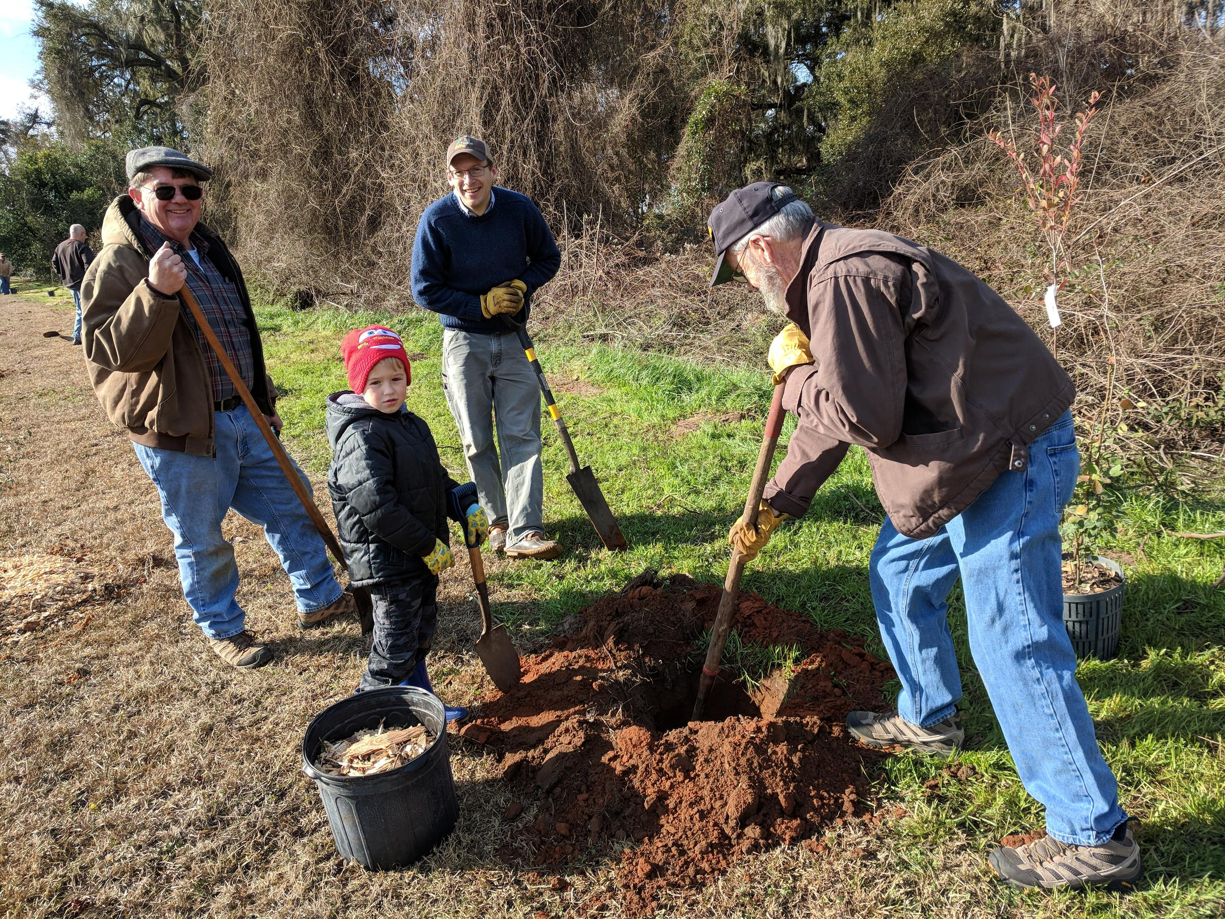 Volunteers helped plant more than 165 trees in the Apalachee Regional Park in honor of Arbor Day. (Photo: Courtesy Leon County)