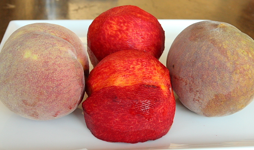 Red blood peaches