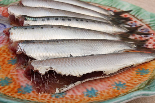 Cleaned fresh sardines
