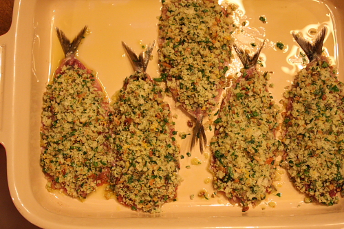 Sardines with filling