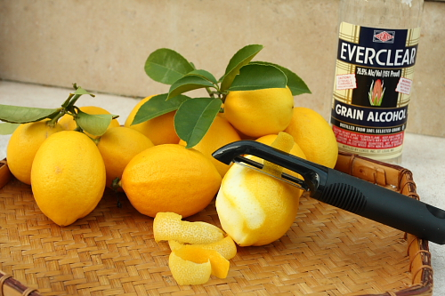 Meyer lemons and EverClear