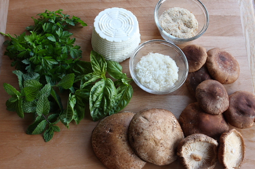 Ingredients for filling mushrooms