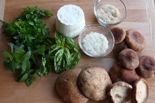 Ingredients for filling mushrooms