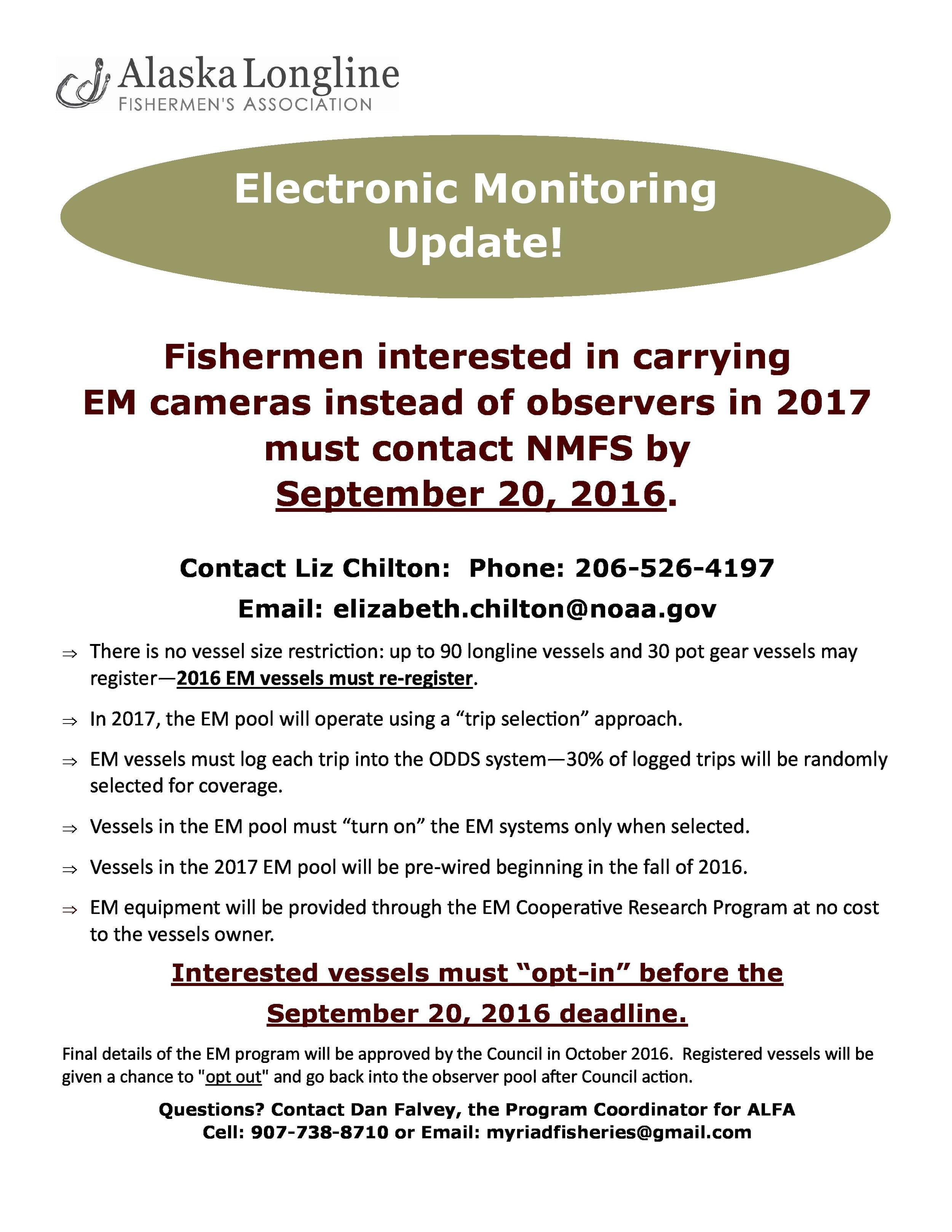 Electronic Monitoring Update