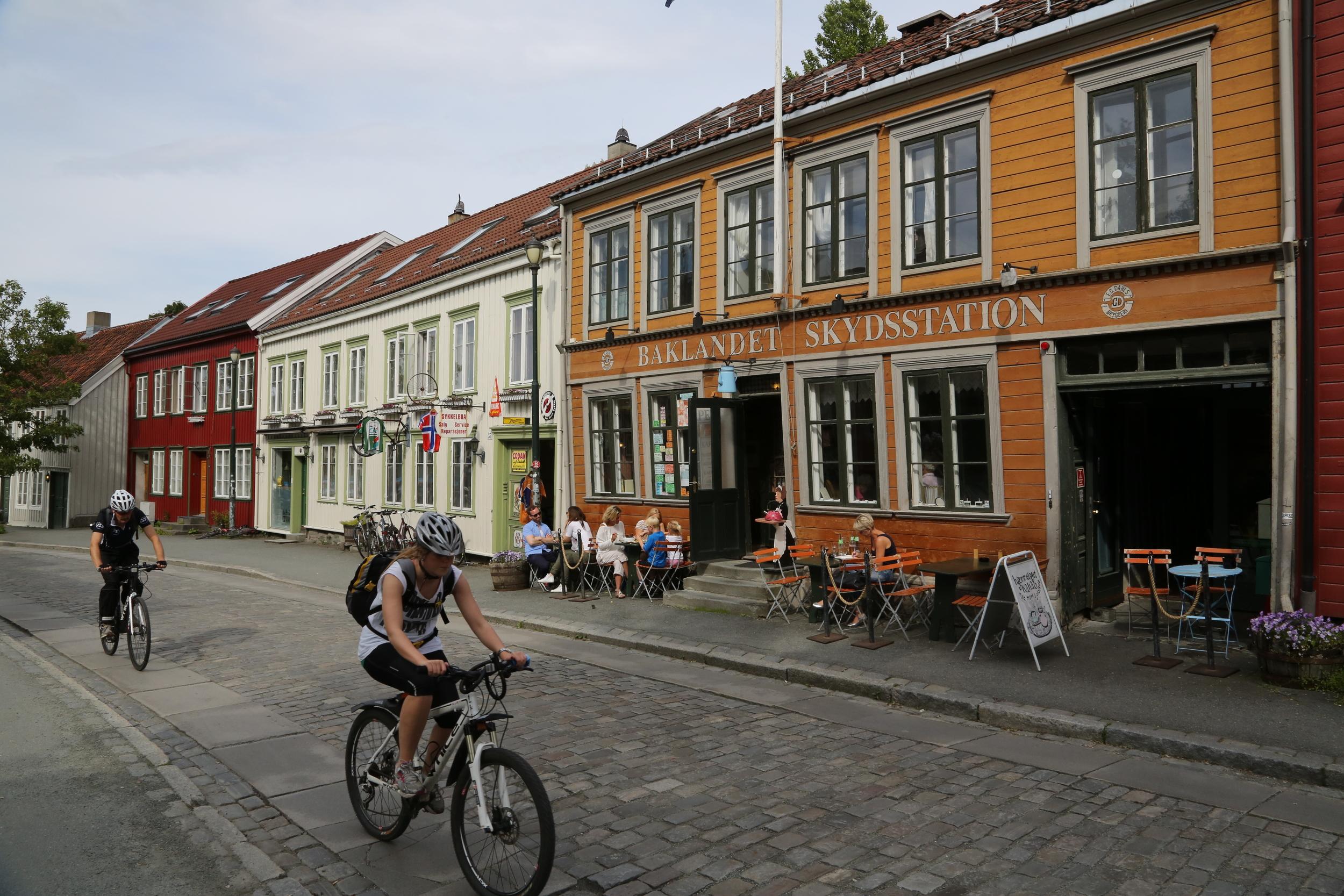 Sykkelglede i Trondheim. Foto: Odd Roar Lange