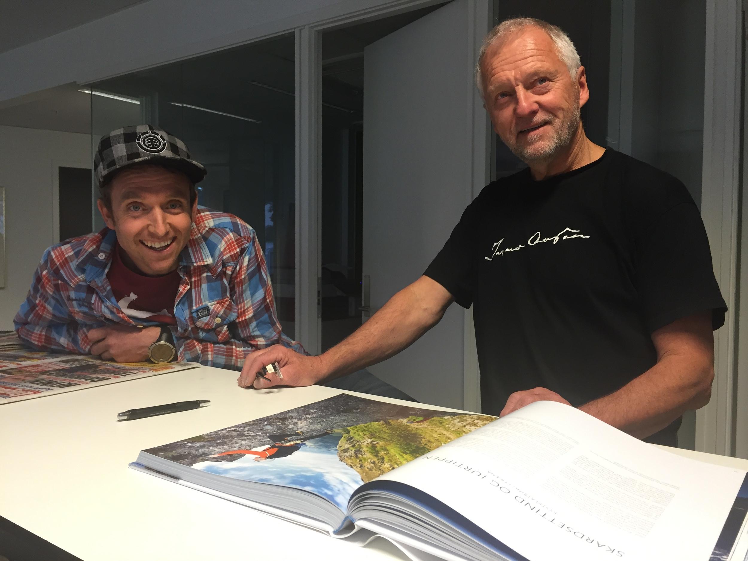 Terje Aamot og Iver Gjelstenli. Foto: Odd Roar Lange