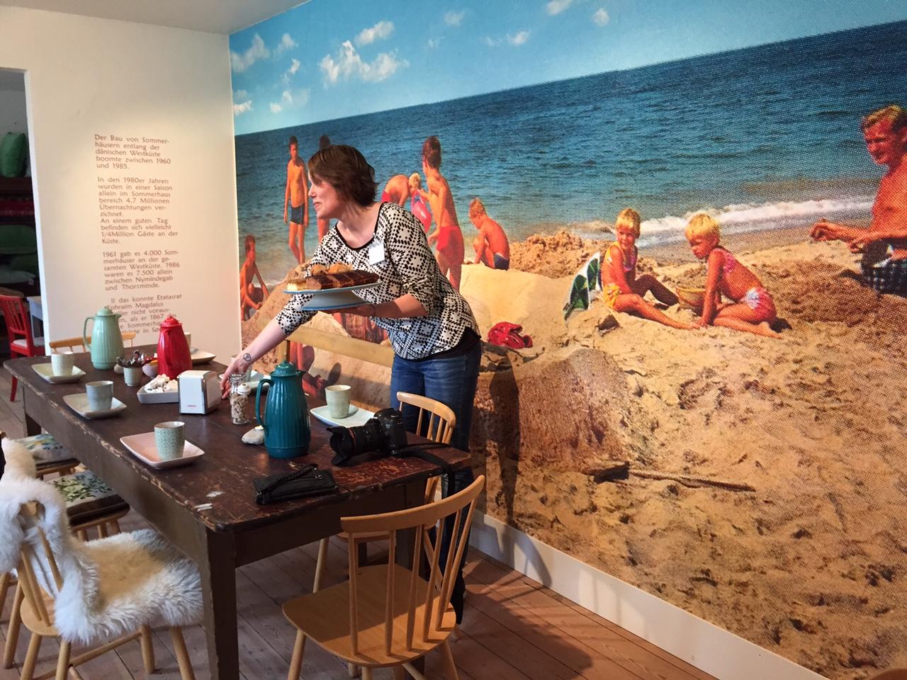 Museumsbutikken har også en kafe. Foto: Odd Roar Lange