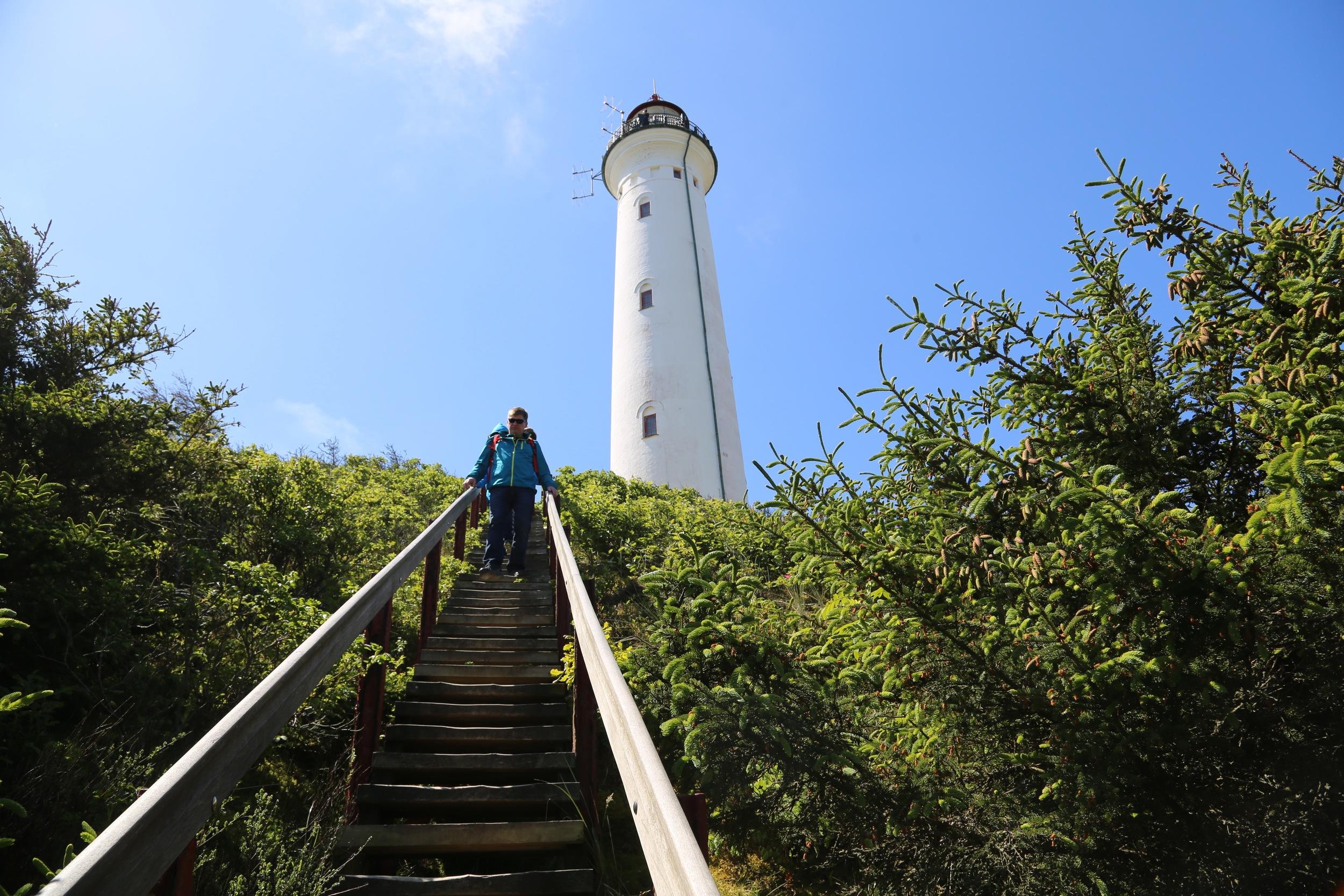 Ta trappene opp til toppen av fyret. Foto: Odd Roar Lange