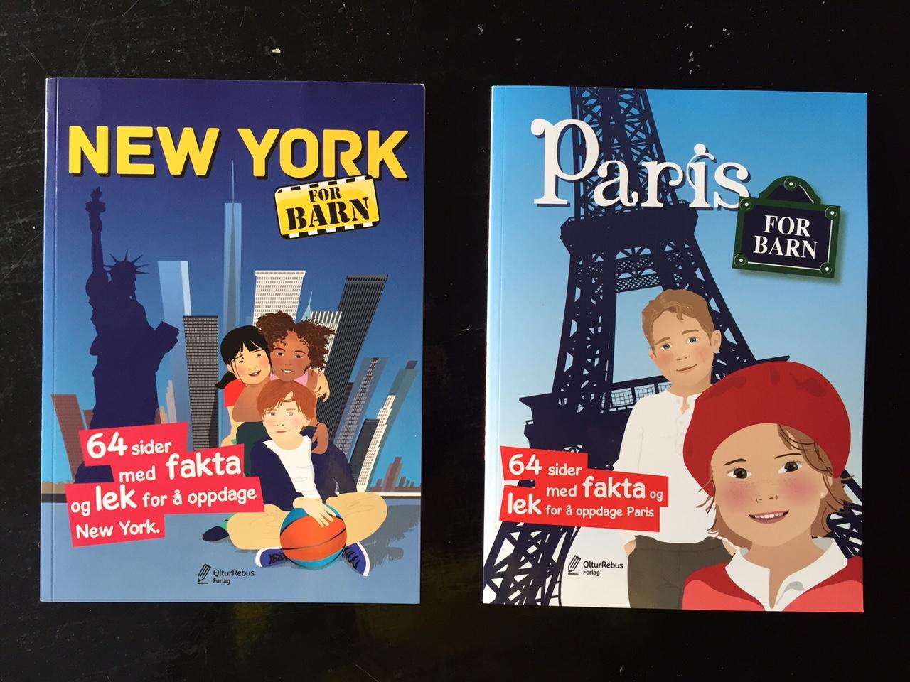 Reisebøker for barn - for Paris og New York