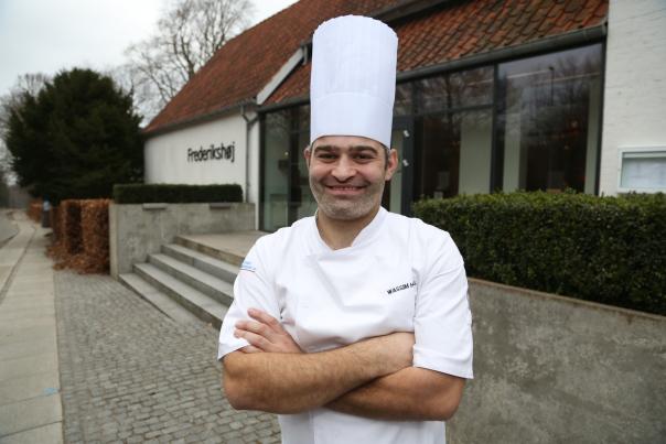 Wassim Hallal venter på sine Michelinstjerner. Foto: Odd Roar Lange