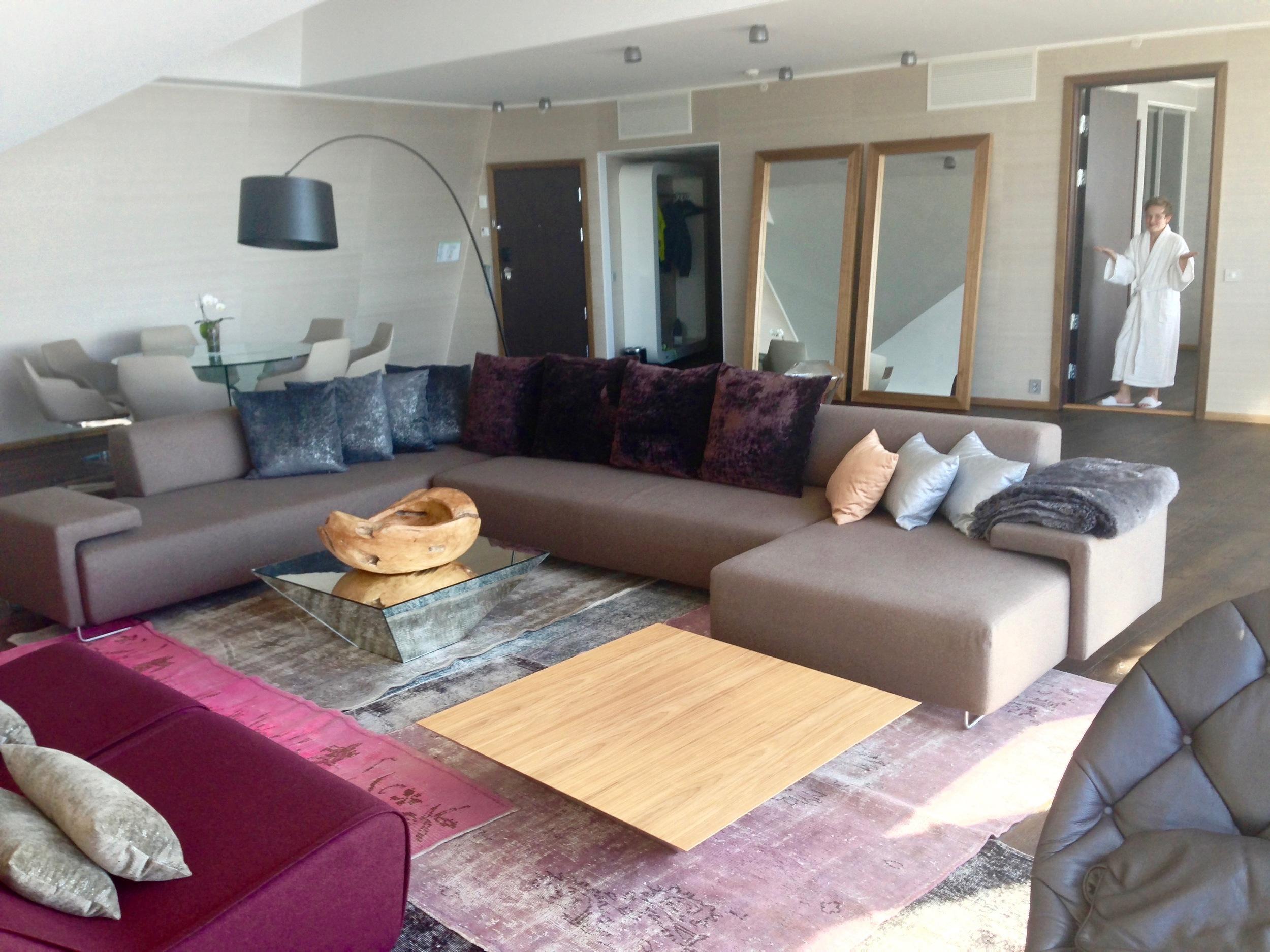 Overnatting i en suite er aldri feil. Her er den største på Clarion Hotel & Congress i Trondheim. Foto: Odd Roar Lange