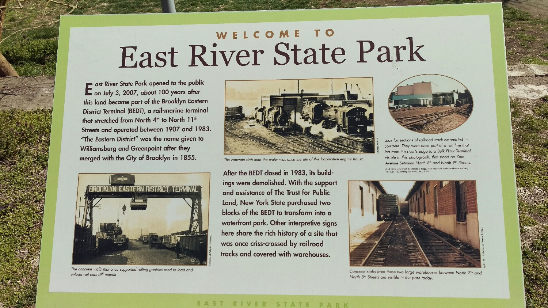 East River State Park er godt skiltet, og historien om stedet blir tatt vare på.Foto: Sven-Erik Knoff