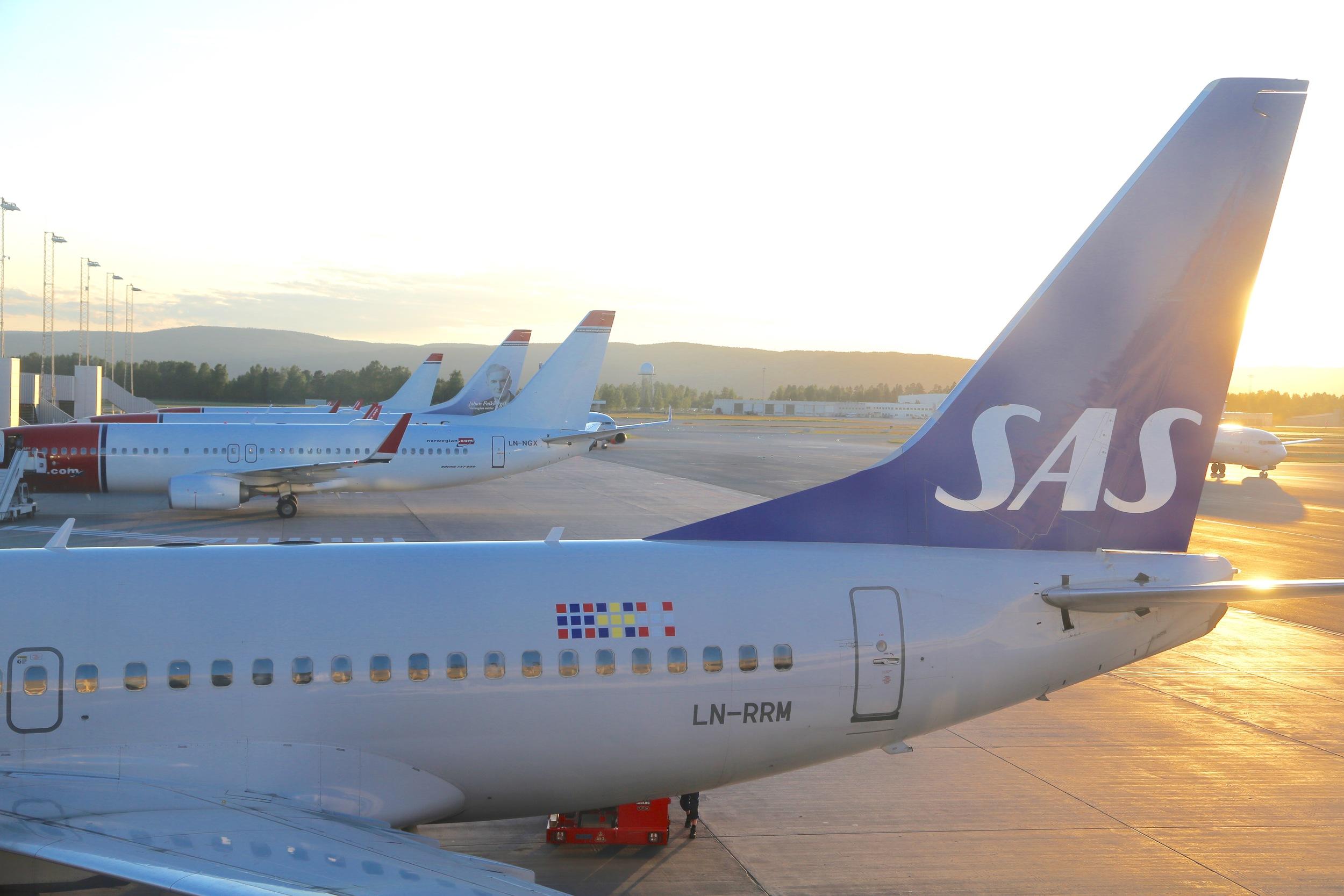 SAS-pilotene er streikeklare.                             Foto: Odd Roar Lange