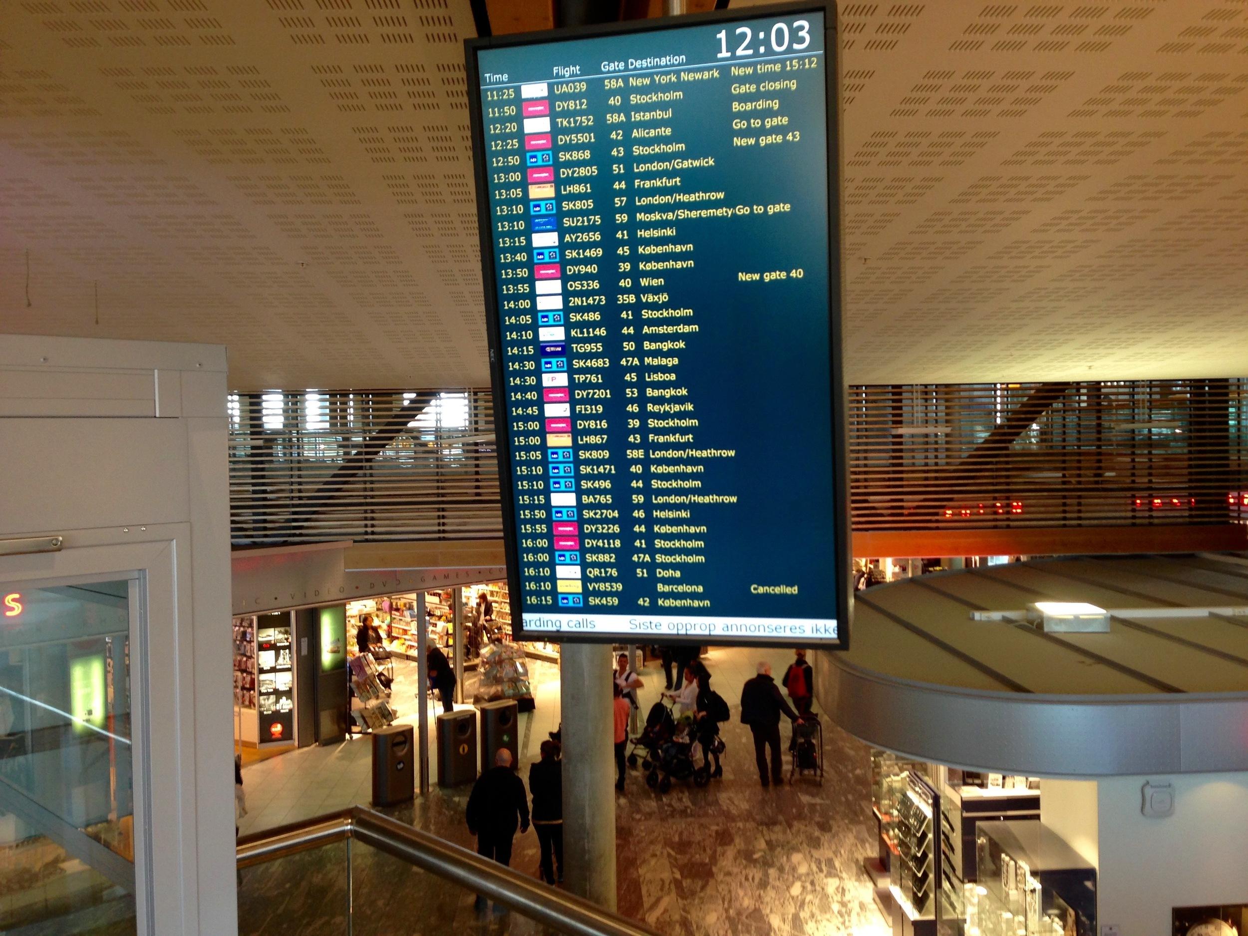 Blir ditt fly rammer av den svenske pilotstreiken.    Foto: Odd Roar Lange
