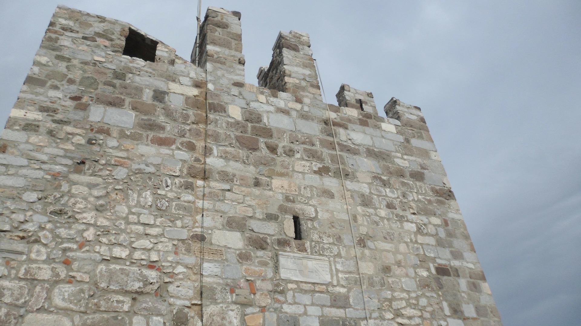 De gamle murene til Bodrums slott.                          Foto: TuubArt