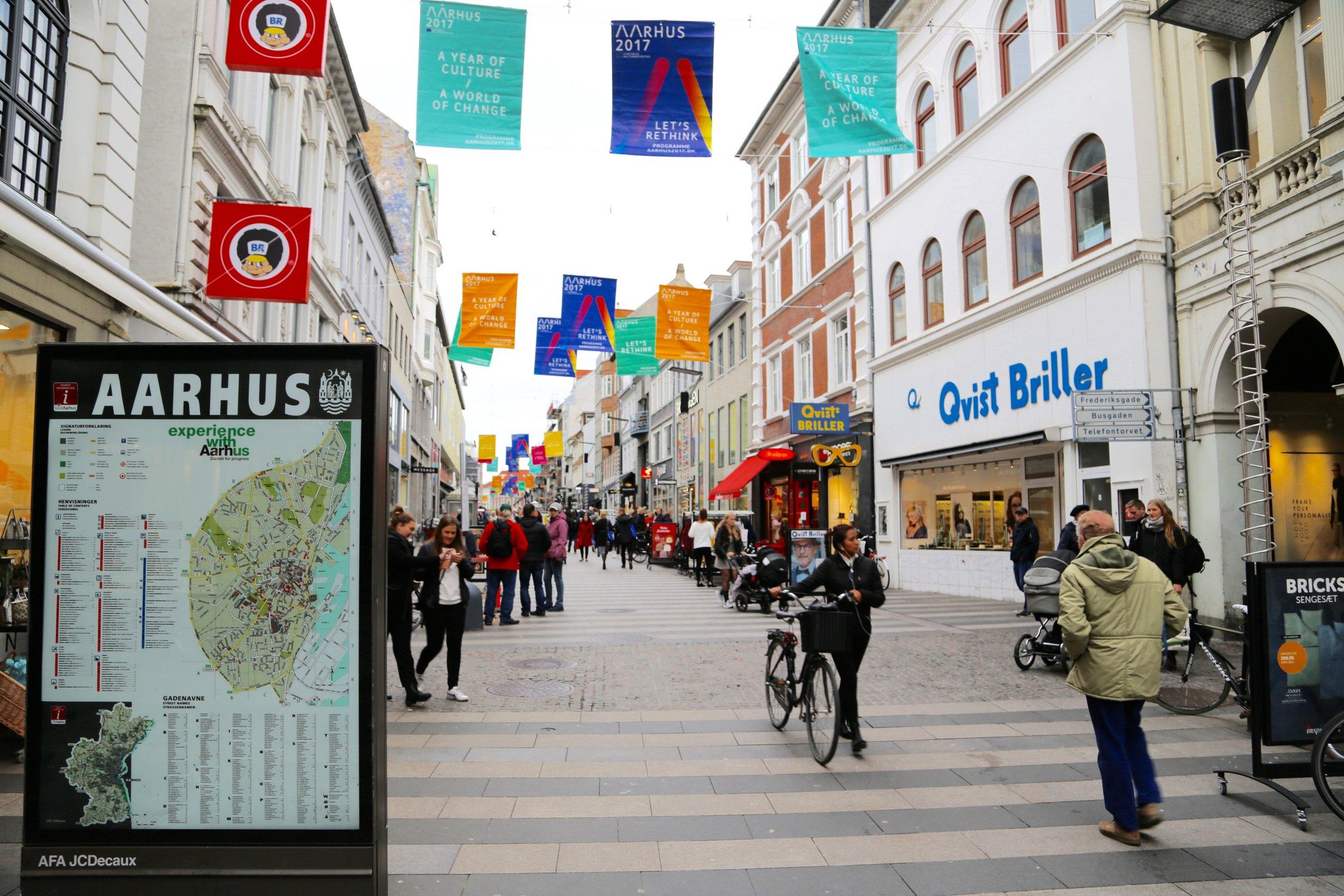 Velkommen til Aarhus.                                Foto: Odd Roar Lange
