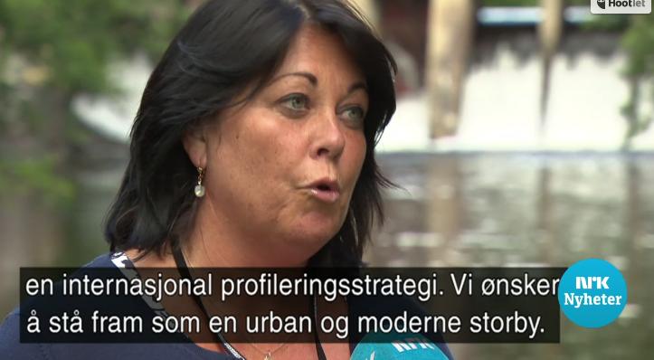 Fra NRKs intervju da kampanjen om sauen Heidi ble slaktet av Bente Bratland Holm. Foto: NRK