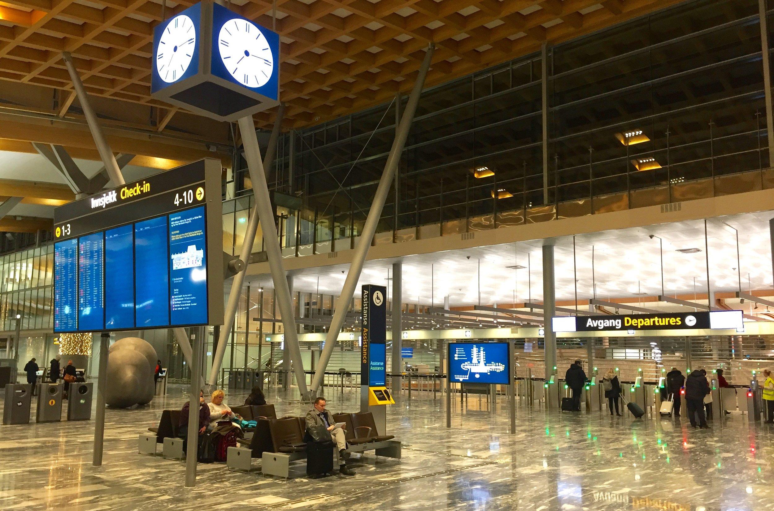 Hit skal du gå hvis du reiser med Norwegian.                  Foto: Odd Roar Lange