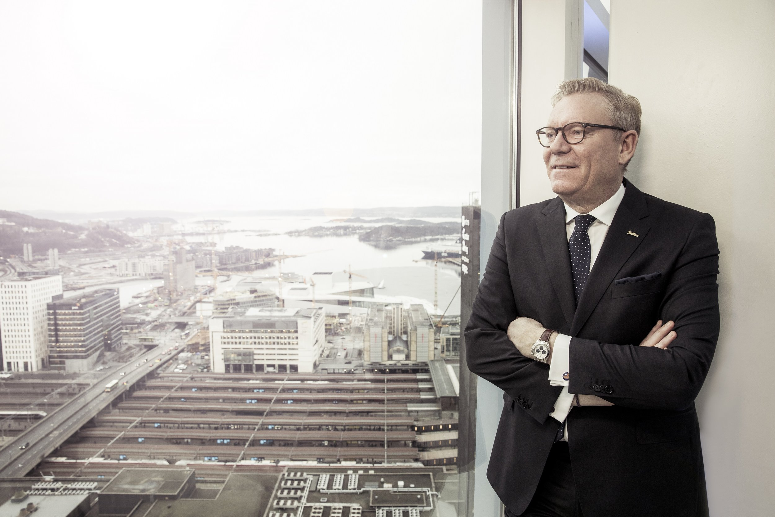 Administrerende direktør Tarje Hellebust ved Radisson Blu Plaza Hotel. Foto - Rickard L. Eriksson