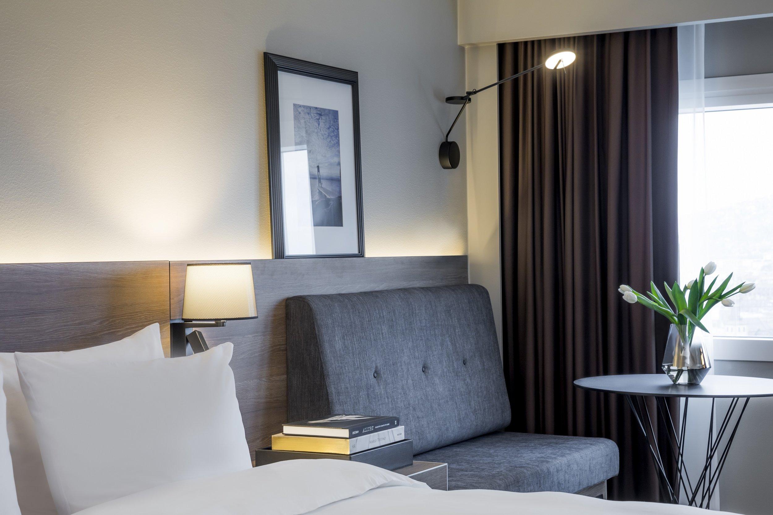 Slik blir noen av de nye rommene.                            Foto - Rickard L. Eriksson
