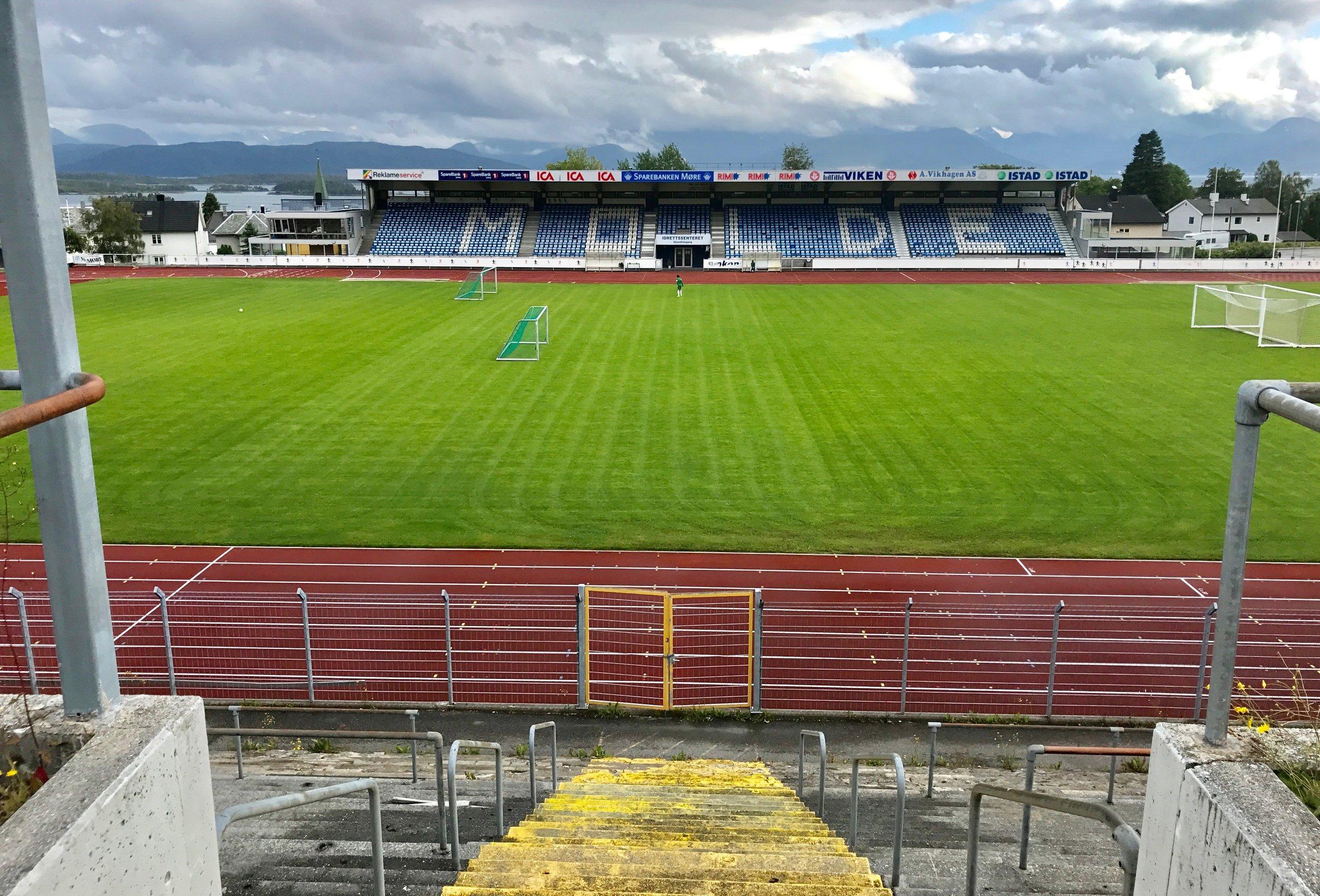 Molde Idrettspark - eller på folkemunne, «gamlestadion». Foto: Odd Roar Lange