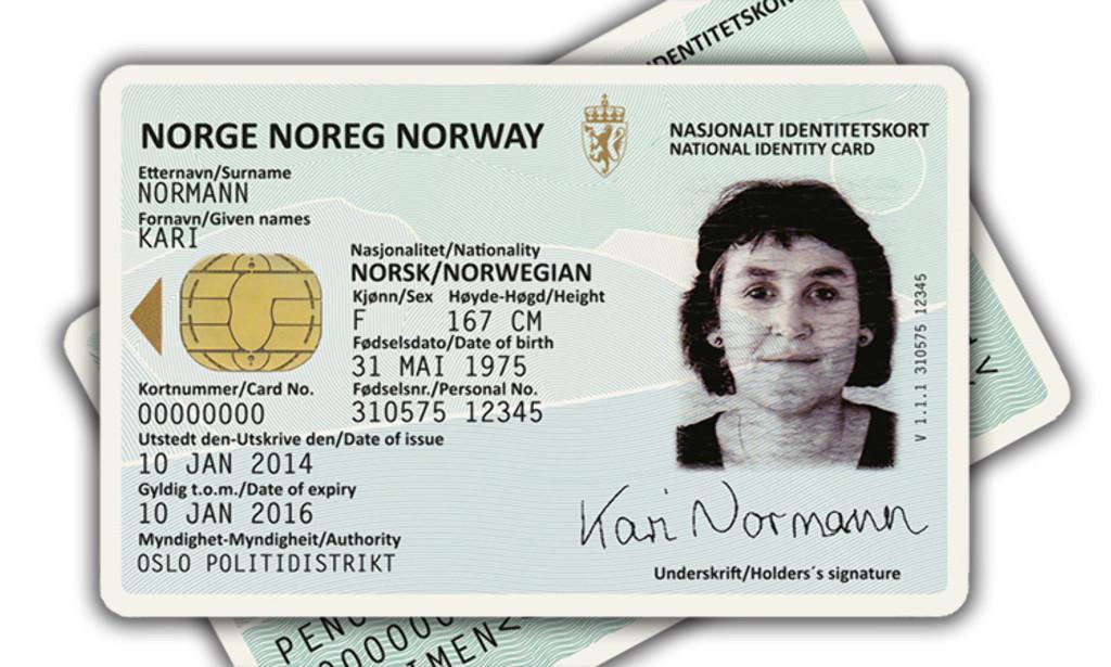 Slik blir ditt nye nasjonale ID-kort som gjør at du kan droppe passet på reiser i EØS-land.