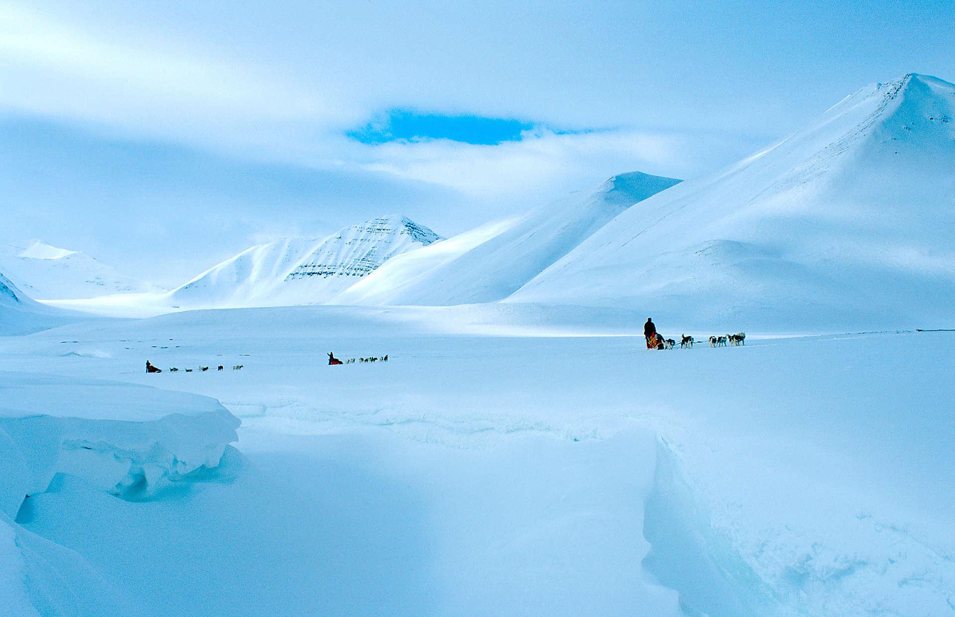 Vinterlys på Svalbard               Foto:Björn Klauer/www.nordnorge.com/Longyearbyen