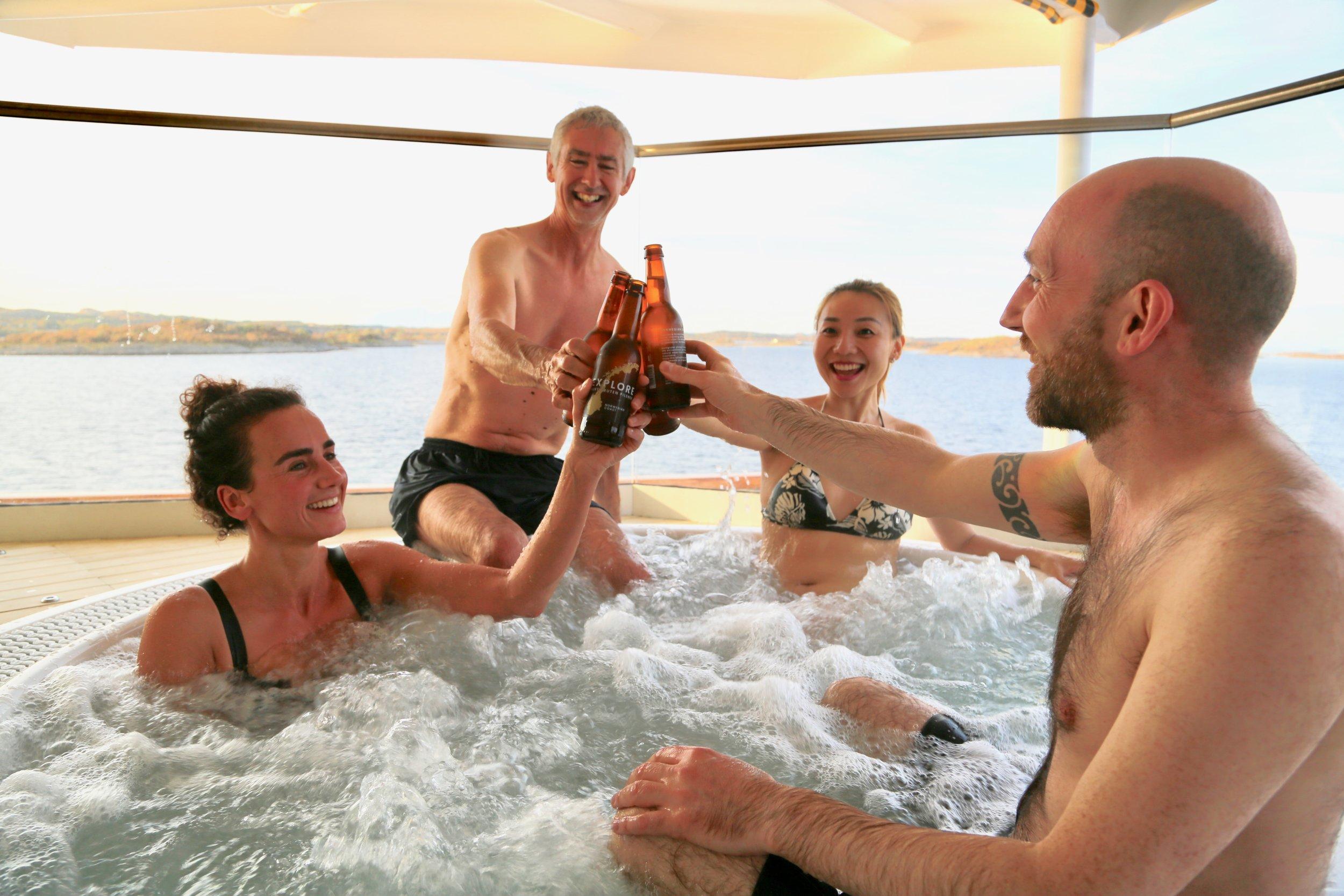 Hurtigrutens nye skip skal seile i kjent farvann, som her - like sør for Torghatten Foto: Odd Roar Lange