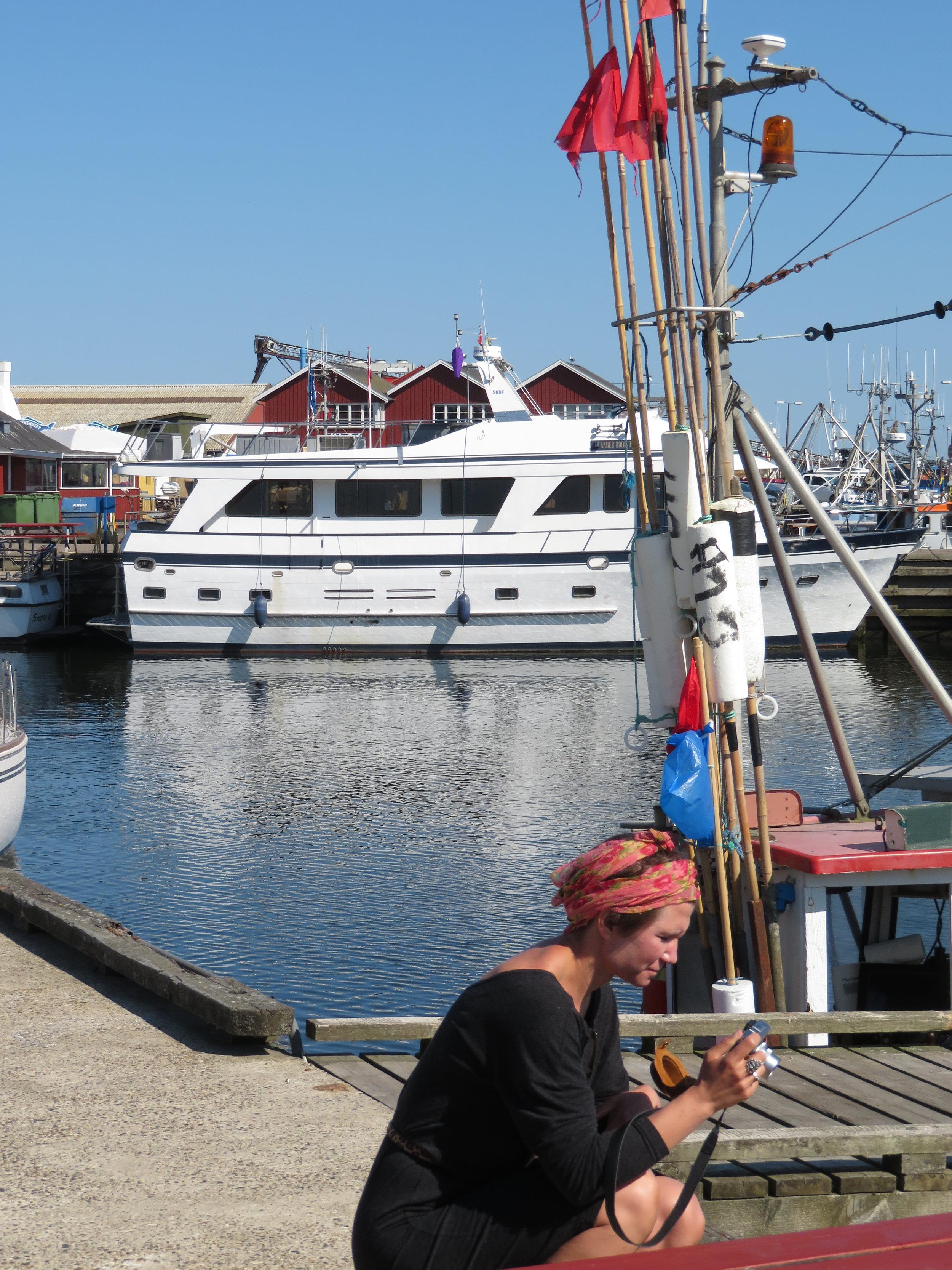 Havnen i Gilleleje.                               Foto: Odd Roar Lange