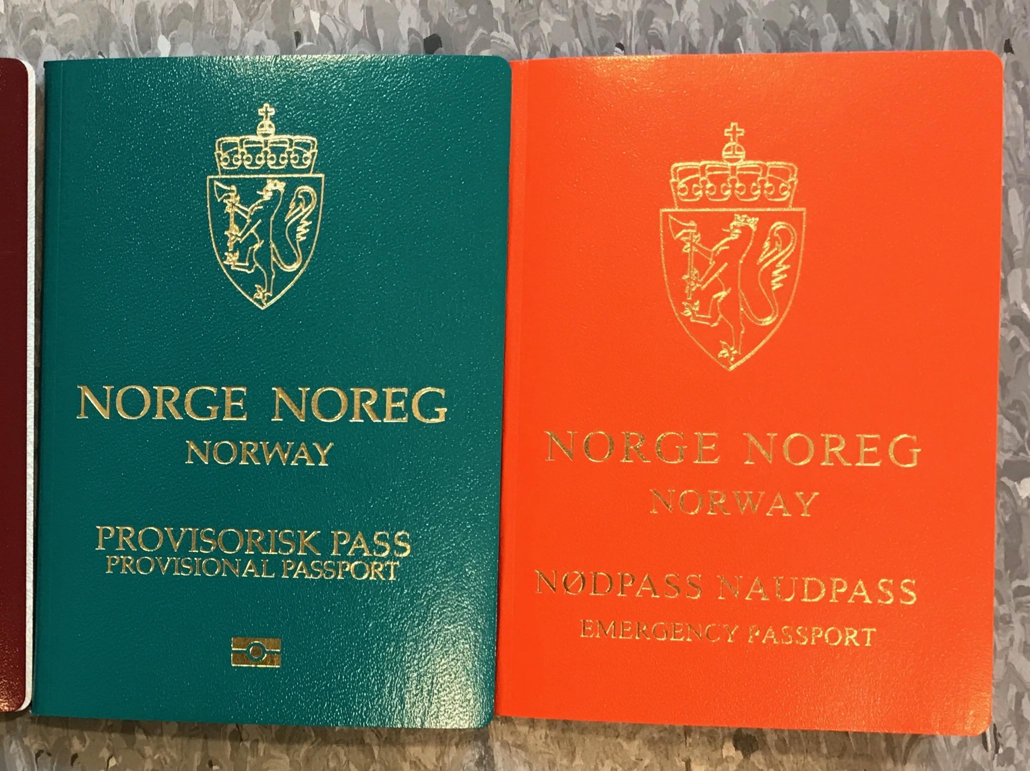 Provisoriske pass og nødpass kan utstedes i spesielle tilfeller. Foto: Odd Roar Lange