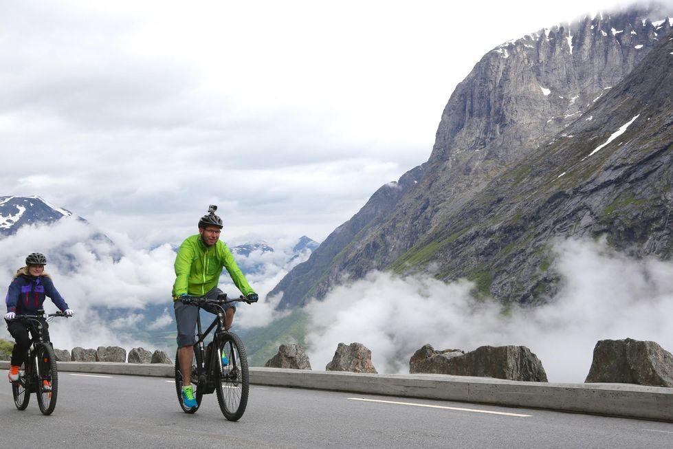 Prøv el-sykkeltur opp Trollstigen.