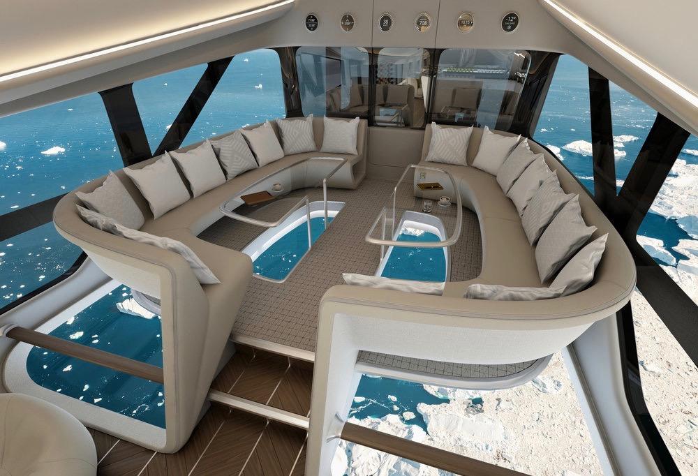 Velkommen om bord: Med denne utsikten kan du sveve i tre døgn. Foto: DesignQ/Airlander