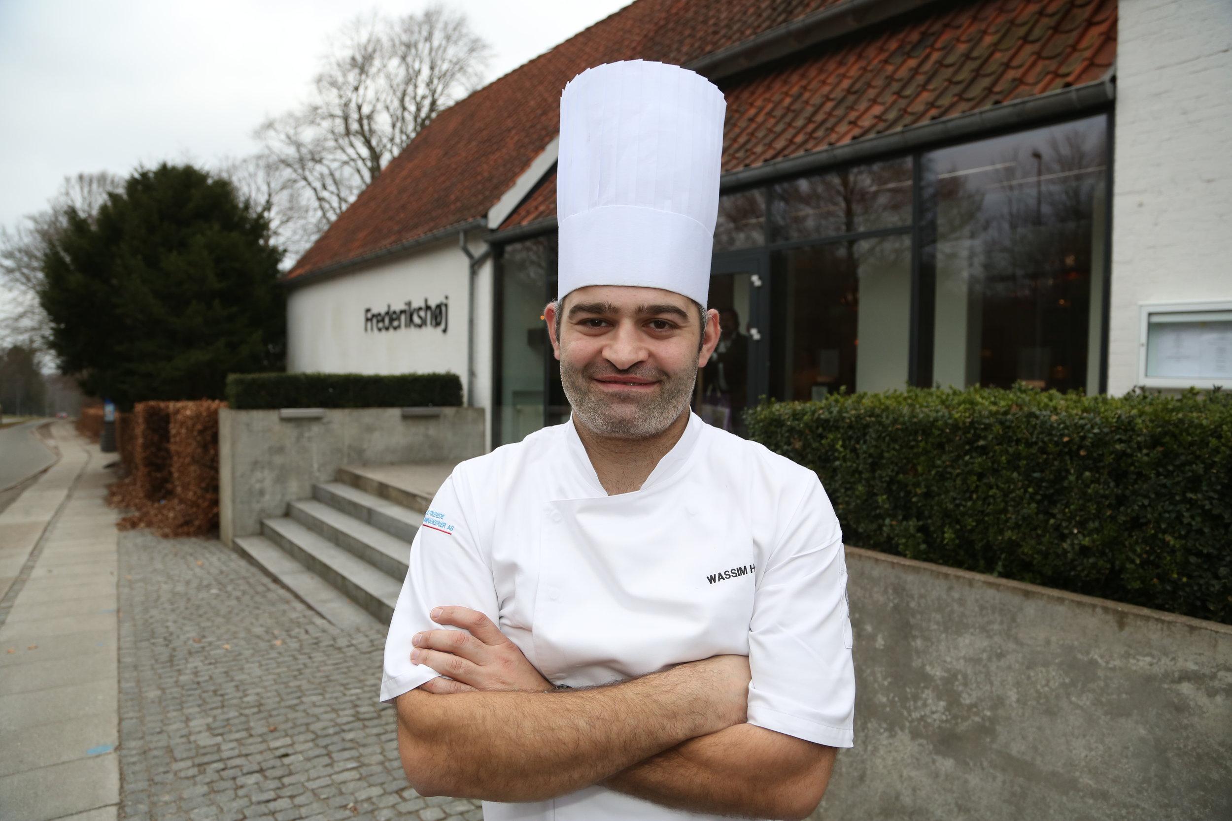 Wassim Hallal er innehaver og kjøkkensjef på Frederikshøj Restaurant. Foto: Odd Roar Lange