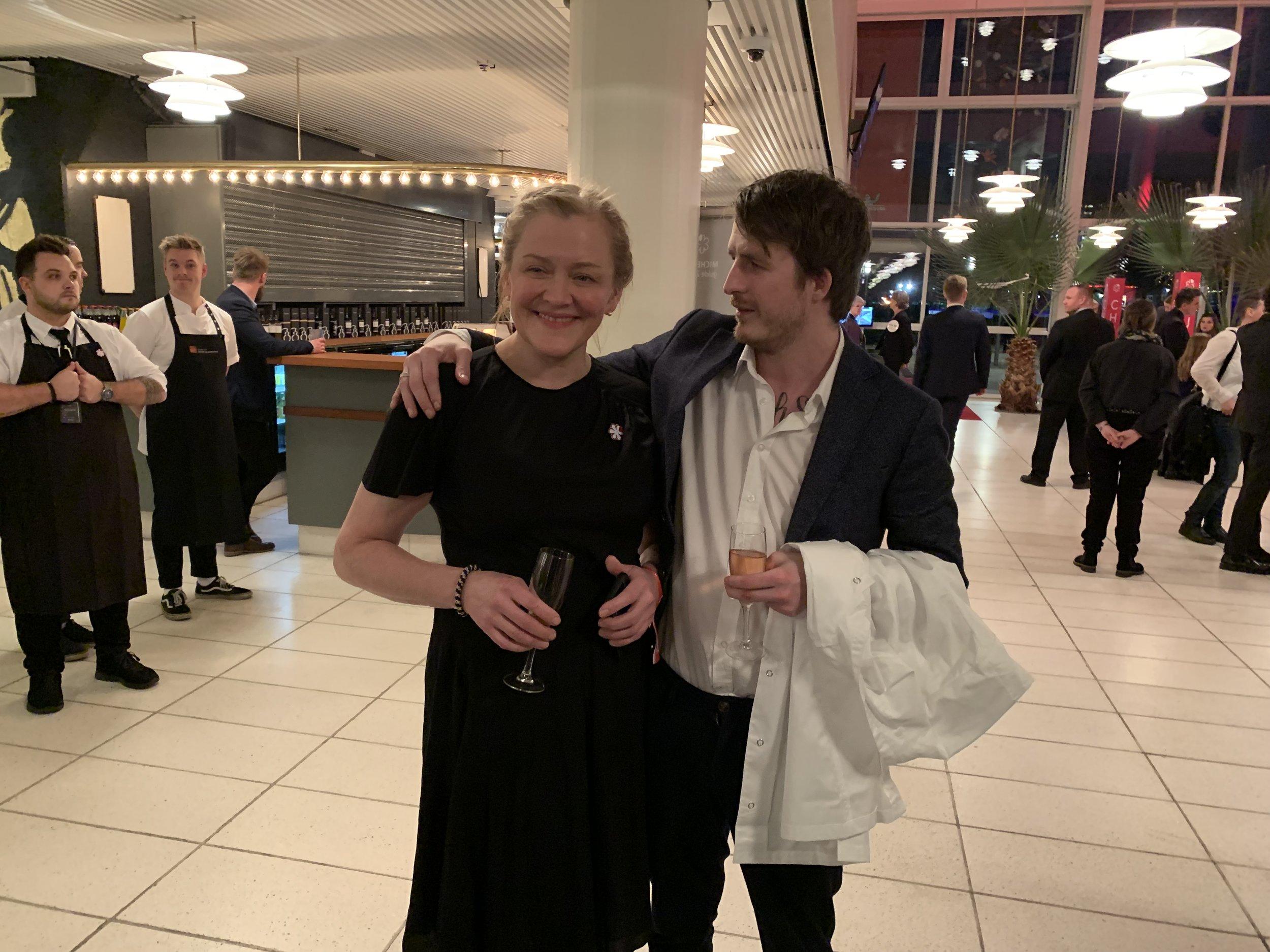 Heidi Bjerkan fra Credo og Jonas André Nåvik fra Fagn. Foto: Odd Roar Lange