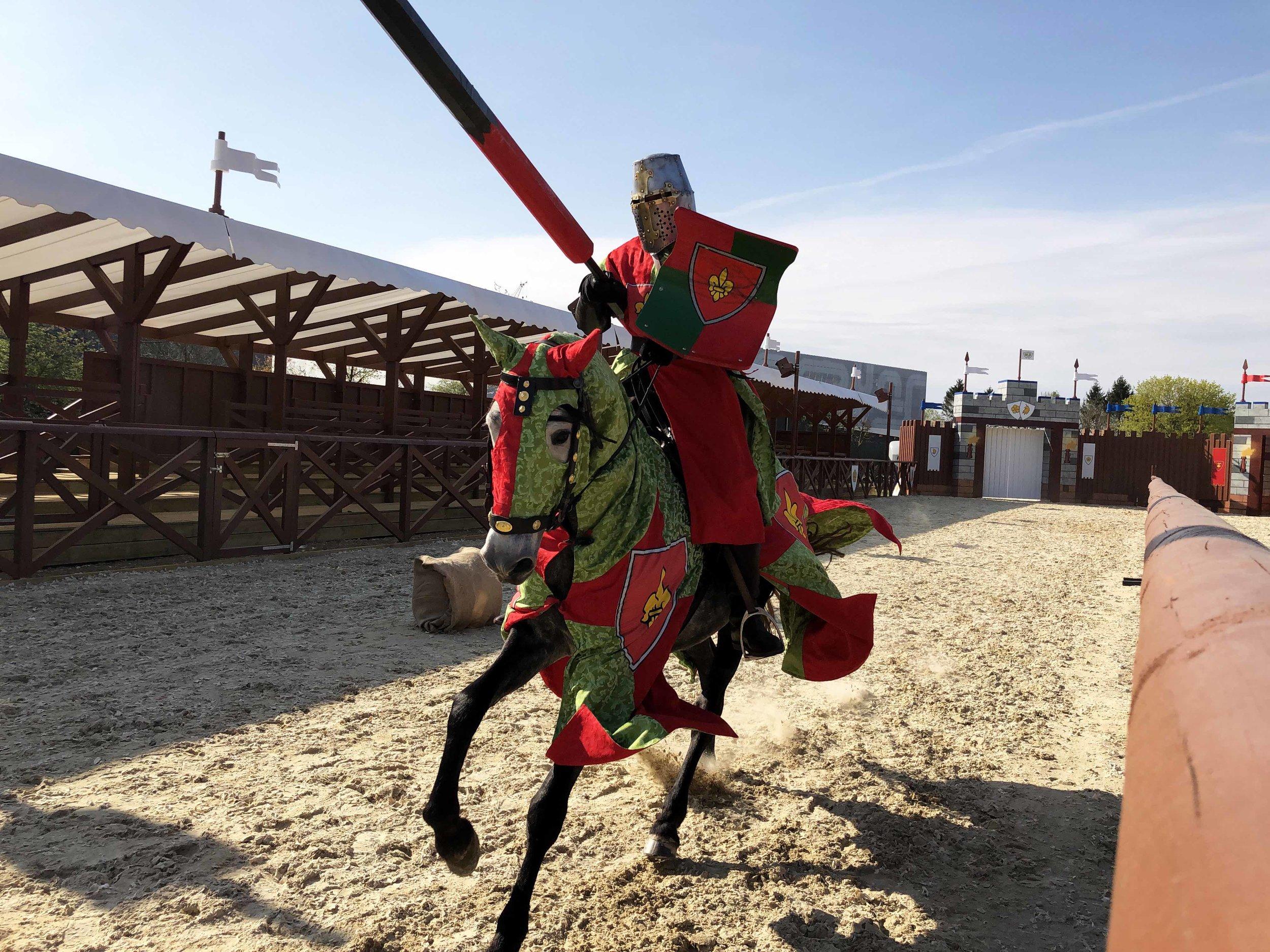 Sommerens ridderkamp i Legoland. Foto: Legoland