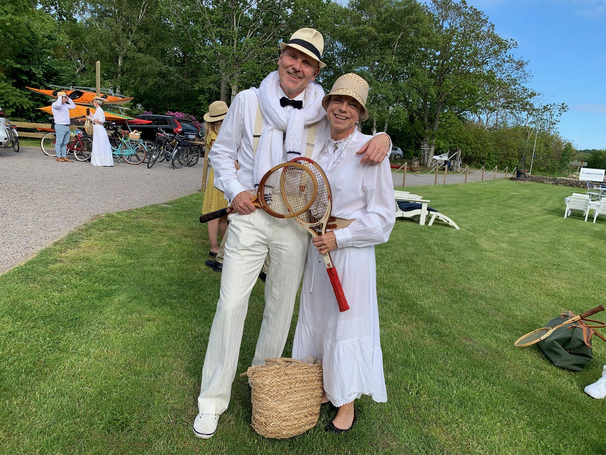 Vil dere starte champagne- og tennisklubb i Norge, spør Karin Ring og Ulf Mattsson? Foto: Odd Roar Lange