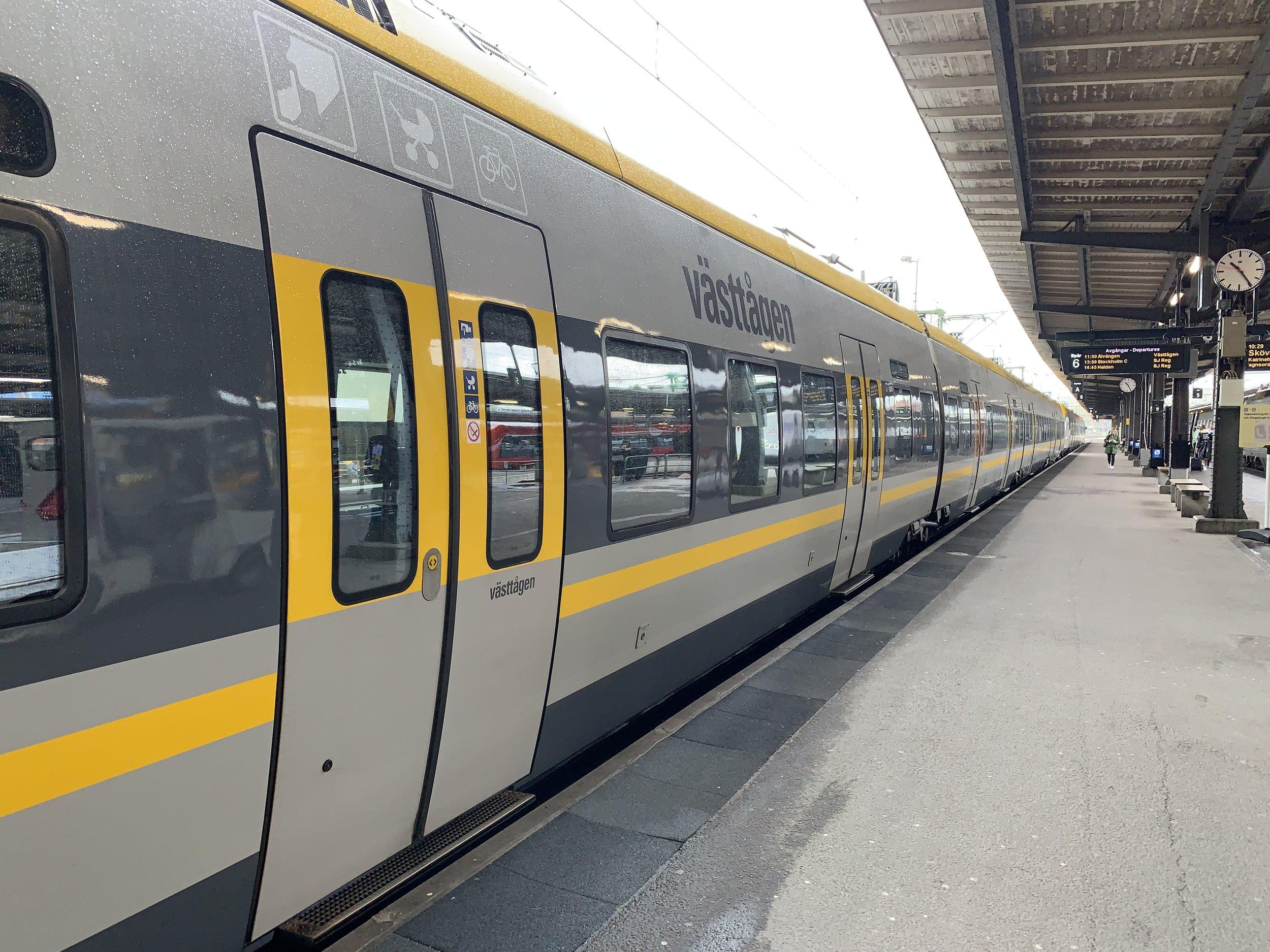 Gå på toget i Göteborg. Det er klart for turen sørover. Alle bilder: Odd Roar Lange