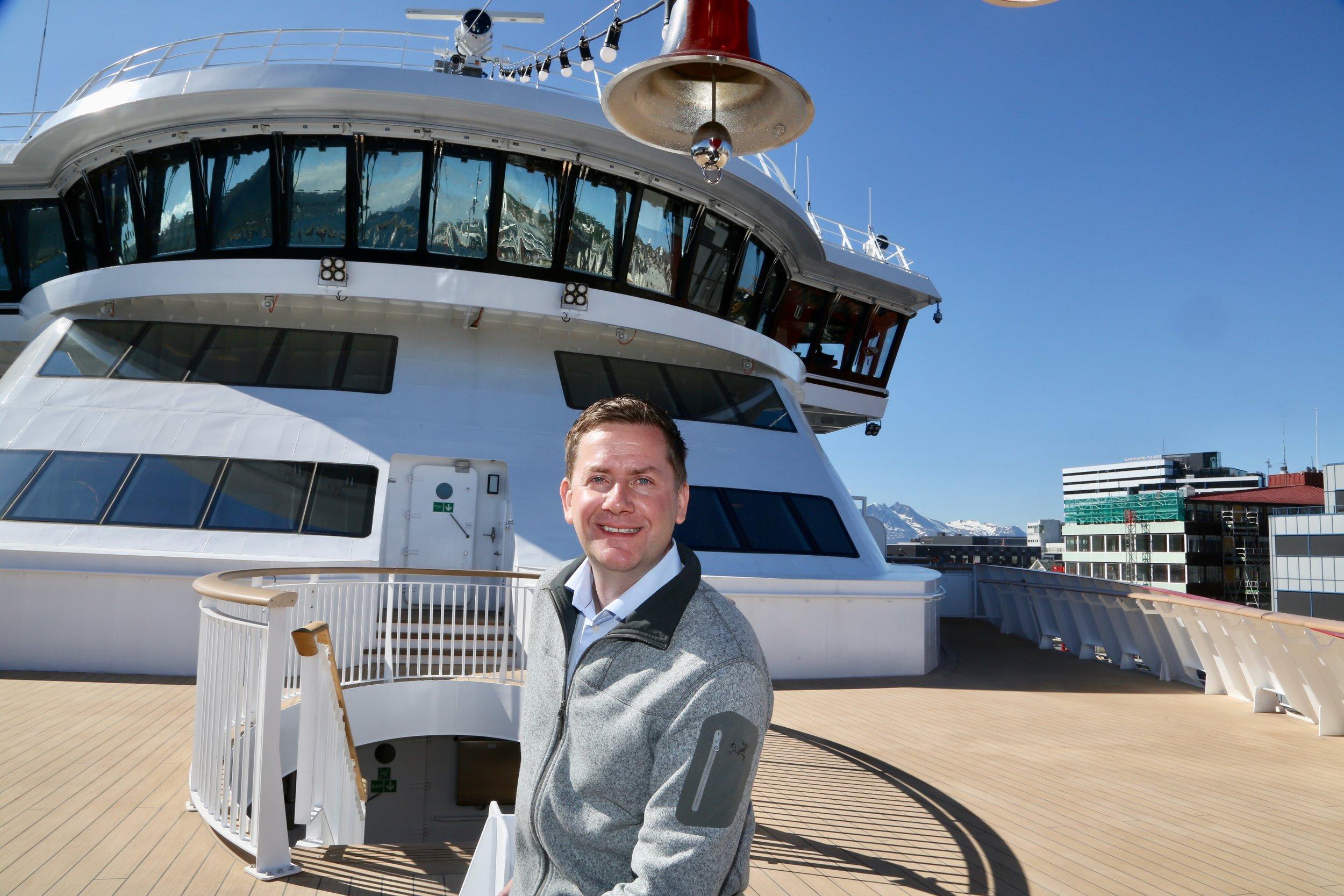 Hurtigrutens konserndirektør Daniel Skjeldam.  Foto: Odd Roar Lange