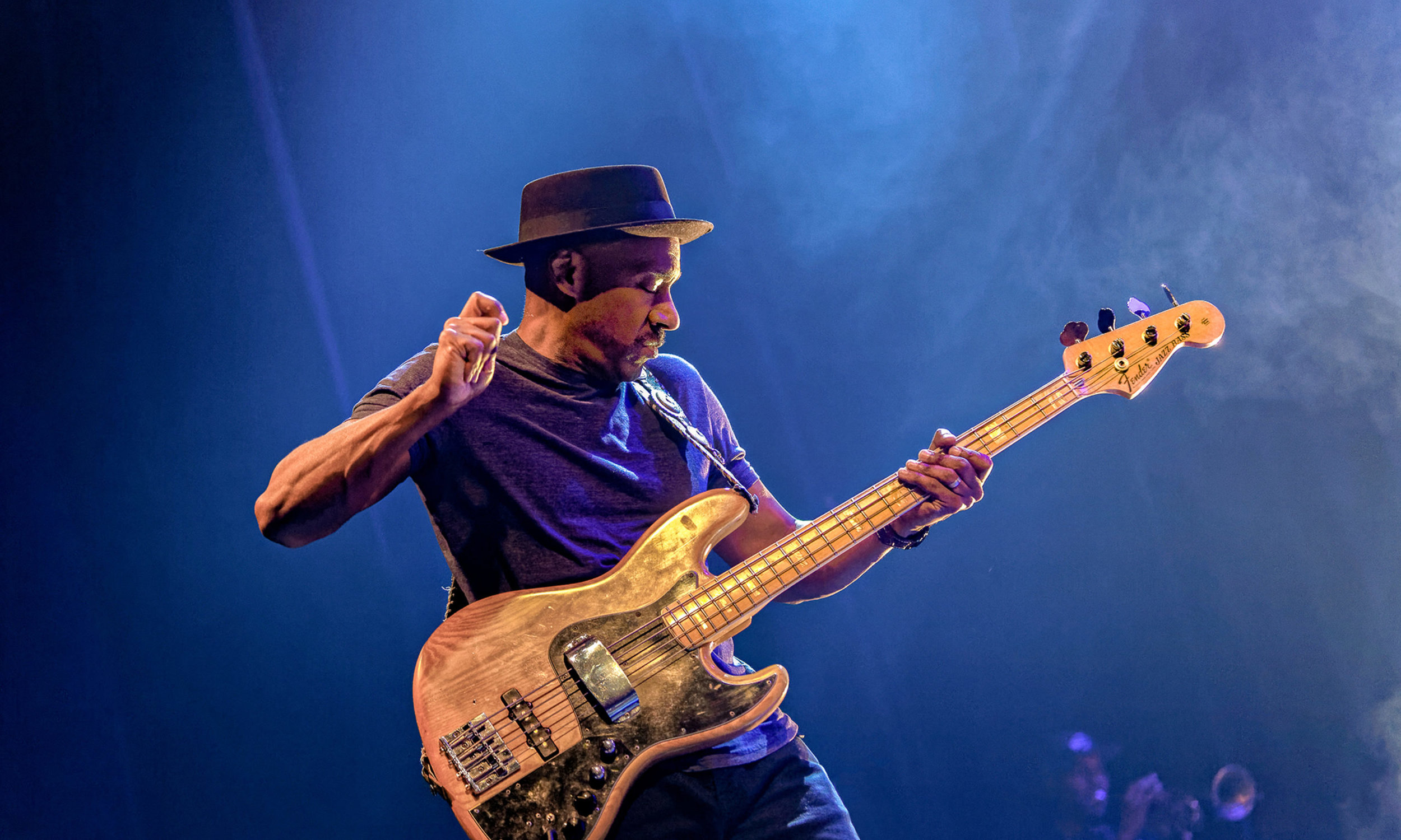 Marcus Miller - et fyrverkeri av en jazzmusiker. Foto: Moldejazz