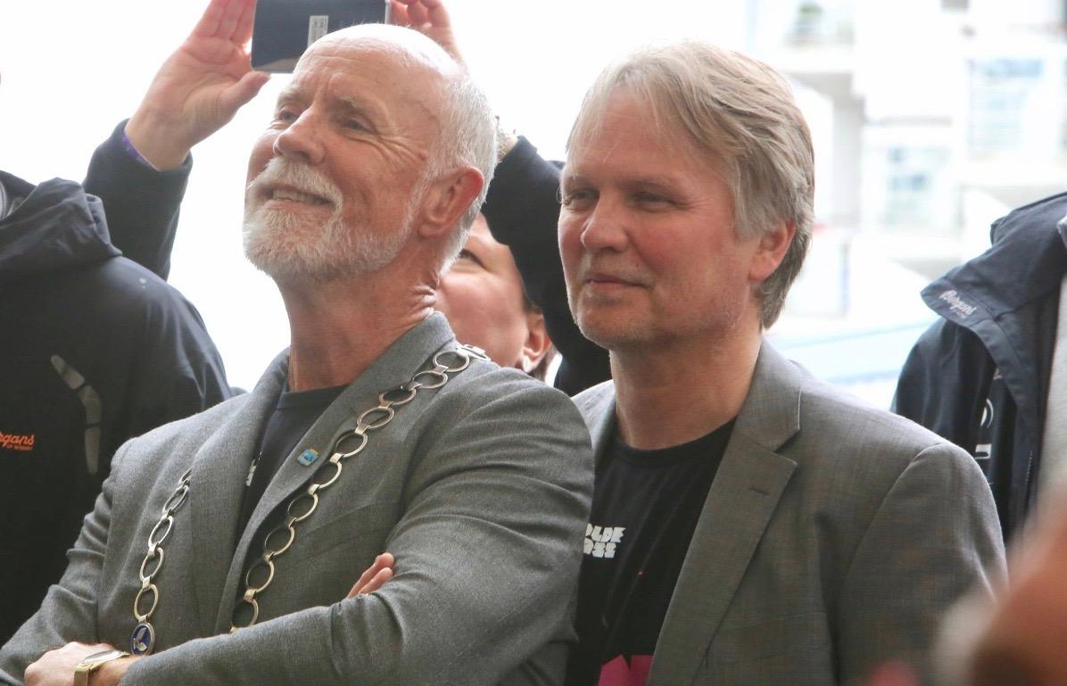 Moldeordfører Torgeir Dahl og Moldejazzdirektør Hans-Olav Solli. Foto: Odd Roar Lange