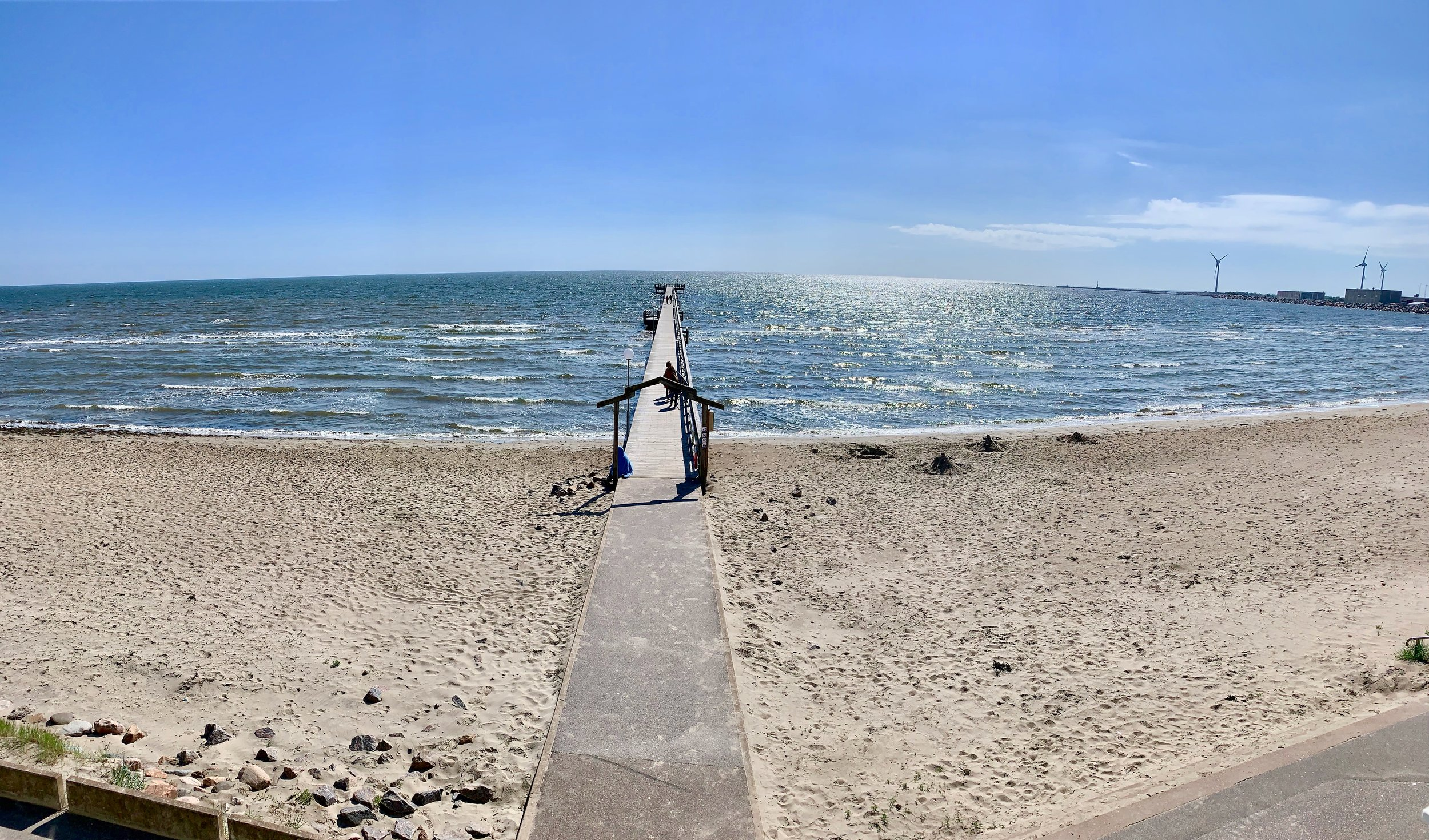 Slik er utsikten fra strandhotellet ved Falkenberg. Foto: Odd Roar Lange