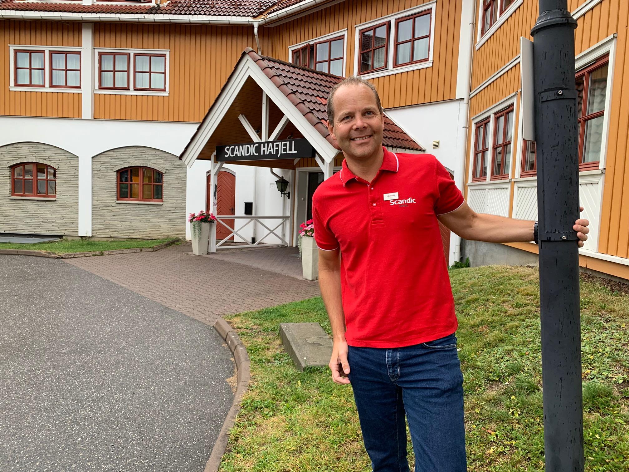 Gode og travle dager. Erik Fostervoll og Scandic Hafjell nord for Lillehammer har hatt en travel sommer.  Foto: Odd Roar Lange