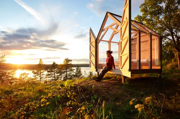 72 Hour Cabin i Henriksholm. Foto: Jonas Ingman