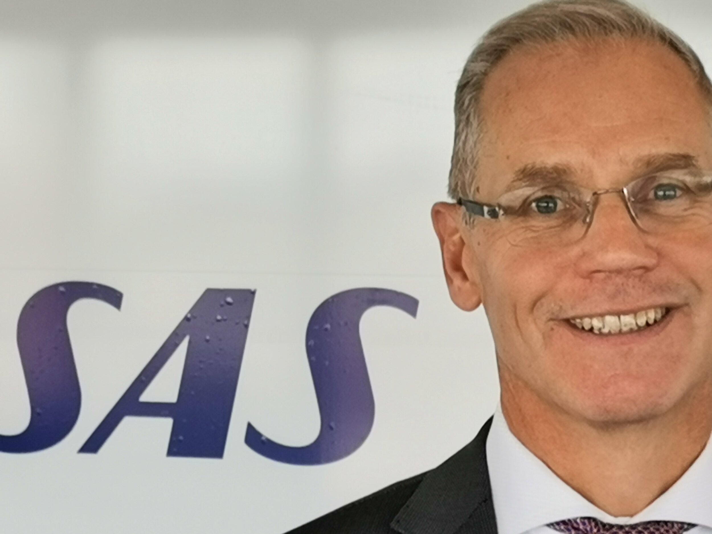 Administrerende direktør Rickard Gustafson i SAS lover store endringer i flyselskapet de kommende årene. Foto: Odd Roar Lange
