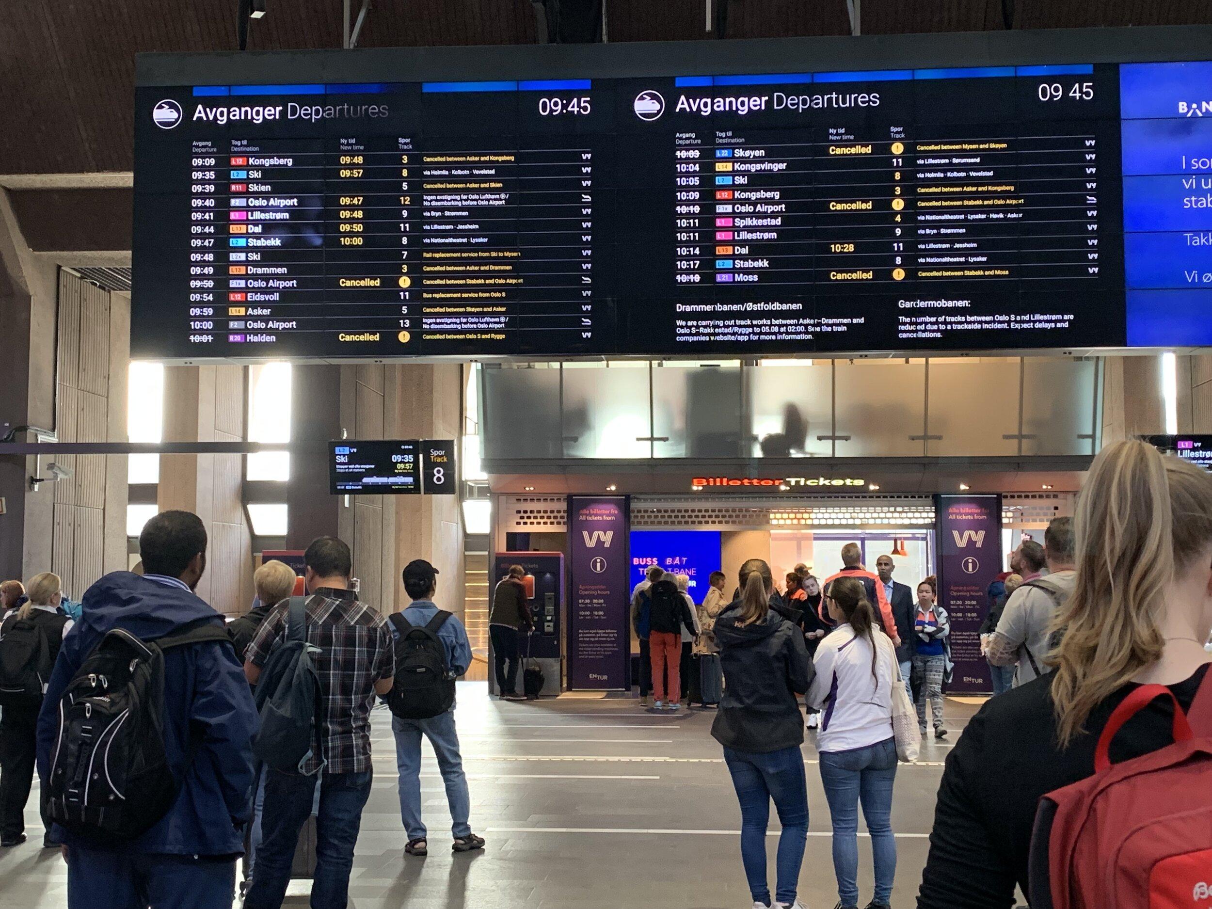 Reiseforsikringen din dekker ikke ekstrakostnader du har under togstreiken. Foto: Odd Roar Lange