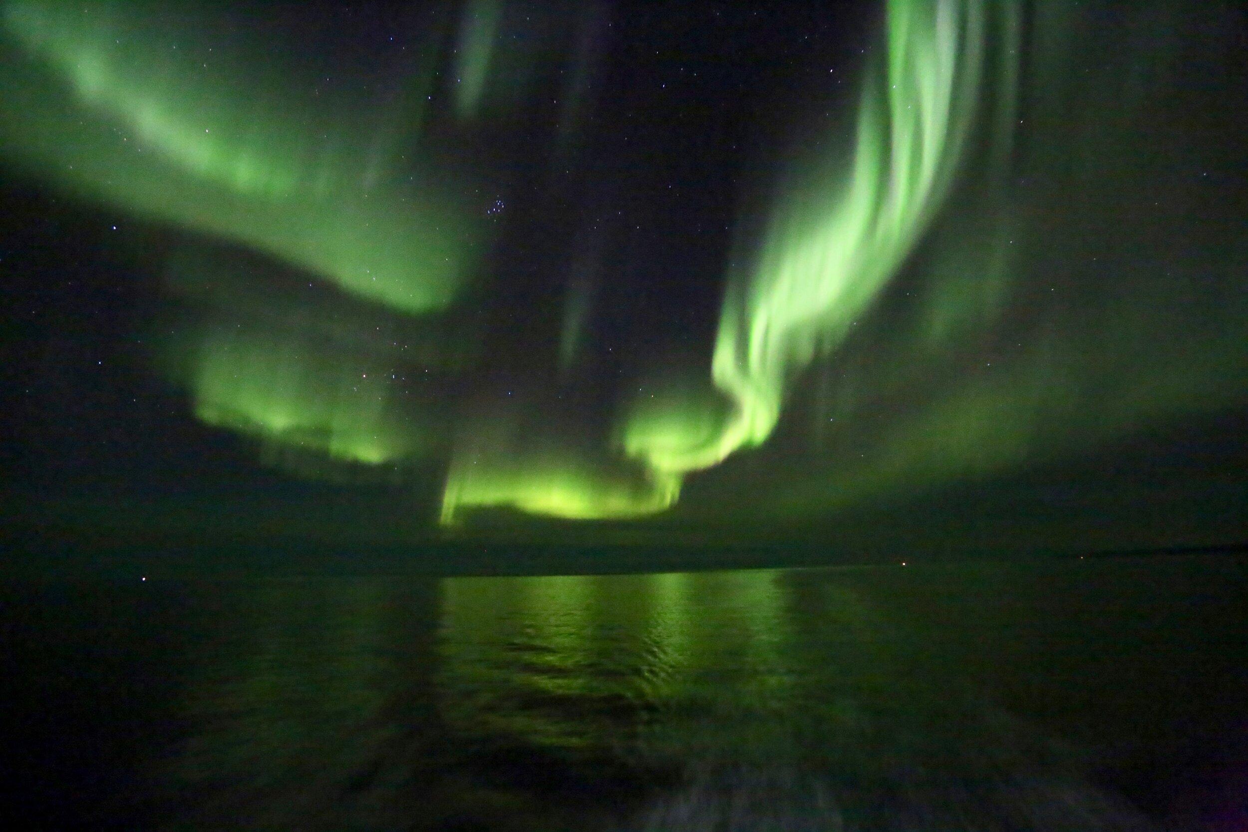 Jakten på nordlyset ble en av de aller fineste turene i Norge.            Foto: Odd Roar Lange